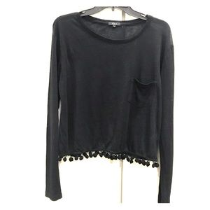 Rails black linen blend top size xs